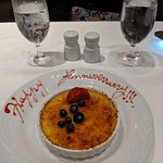 Beautiful touch to delicious Creme Brulee