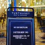 pre show menu!! 3 crs 345 p.p or Tasting tapas menu 7 crs 375 kr p.p