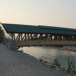 bridge approach from walking trail