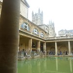 The Great Bath - highlight of the visit, with The Abbey visible behind