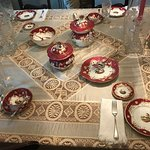 Ivory and Lace Tablecloth