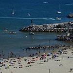 Vue sur la plage de Palavas les flots du phare