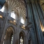 The soaring walls of Winchester Cathedral