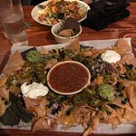 Nachos Appetizer vs Dinner Salad - Both were a hit!