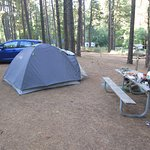tent camping and cooking