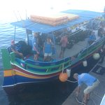Calypso boat getting ready to go off for a days dive.