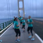 Six of our group ran the Bridge Labor Day morning