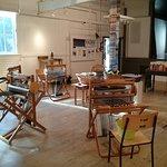 Workshop set up through the Salt Spring Arts Council