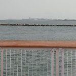 Pier railing and view