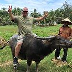Rob on his Buffalo