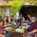 Fab lunch at a little vineyard thanks tp Tuscany Tour Time