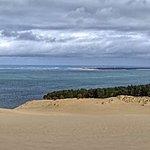 Depuis le sommet de la dune.