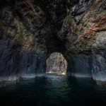 The tunnel on our Neist Point tour.