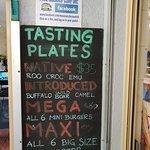Exotic meats on tasting plates!