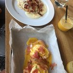 eggs benedict and salty pancakes