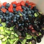 fresh fruit ready for the Flat Belly Breakfast