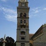 Campanile con l'orologio astronomico della cattedrale di Messina costruito nel 1933 dopo il terr