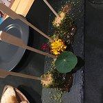 foi gras with eatable flowers