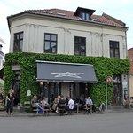 Aarhus, Cafe Drudenfuss, outside seating area