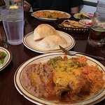 What we ordered - Enchilada, Tamale and Taco
