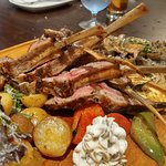 Agnello (lamb rack) & Funghi (mixed wild mushrooms)