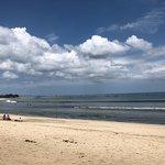 Kuta Beach - brown sand beach