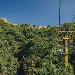 Open cable car ride up to the Great Wall