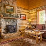 The Log Cabin's downstairs living room.