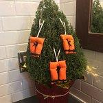 11-30-17 Cute little Christmas Tree in the women's bathroom!
