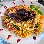 Spaguetti filet mignon