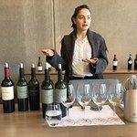 Martina, nossa guia na Cobos e os vinhos degustados...