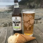 Great view for a beer, cider and an ice cream. Very low Spring Tides