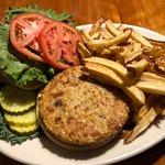 Mushroom-Veggie Burger