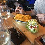 Smoked Fish pie - check out the salad cup! Kerewa!