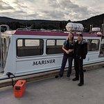 Boat captain, Capt Dan and tour guide extraordinaire, Annie.