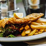 Fish and chips at the Canowindra Hotel