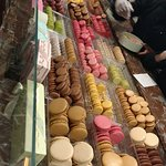 The selection of Macarons...