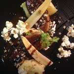 Foie-gras, baby corn...