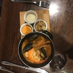Hastings Seafood Stew with Butter Beans, Rouille, Parmesan and Croutons - delicious