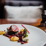 Welsh red Deer, Cannelloni, Swiss chard, parmesan, potato and beetroot