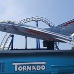 Blue tornado ride