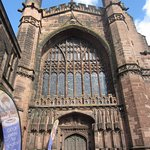 Outside Chester Cathedral