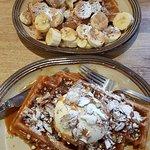 Banoffee sweet waffle and Pecan & Butterscotch sweet waffle