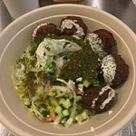 Yellow rice with Falafel and all the fixings. Maple Grove MN Ketan Deshpande