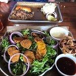 BBQ salad; chopped brisket