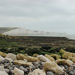 On the beach opposite the Seven Sisters