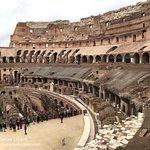 Kolosseum in Rom im Februar.