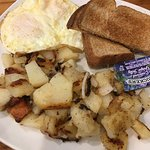 Eggs with home fries