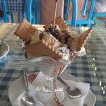 Десерт (мороженое политое чем-то