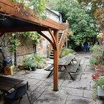 Beckets Inn beer garden 1.